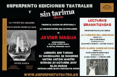 http://sintarima.com/evento/la-funcion-del-orgasmo-y-papa-quiere-morir-en-casa-de-javier-maqua/?instance_id=219