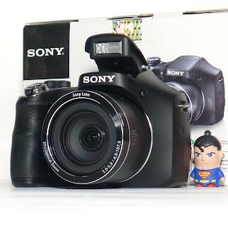 Kamera Prosumer Sony DSC-H300 Fullset di Malang