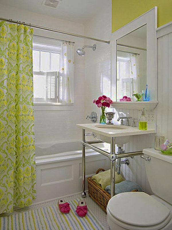 Hogares frescos 30 ideas para cuartos de ba os peque os y - Ideas para cuarto de bano ...