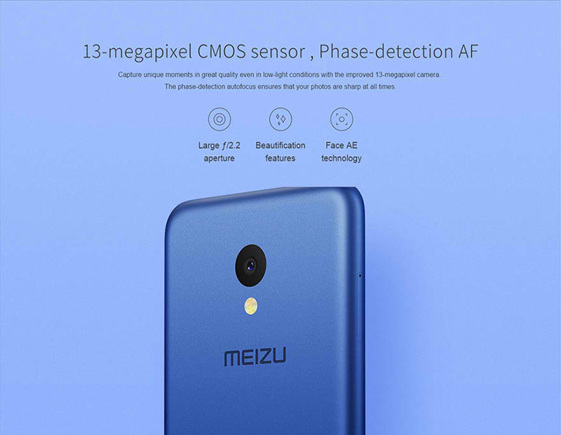 There's a 13 MP CMOS sensor at the back!