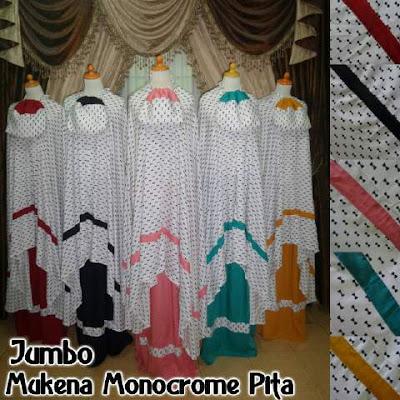 Mukena Jumbo Monochrome Pita Cantik