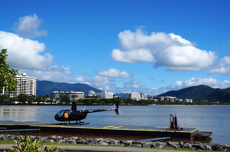 helicopter, Cairns, Australia, Euriental