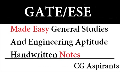 Download Made Easy General Studies And Engineering Aptitude Handwritten Notes Pdf Cg Aspirants