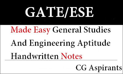 Download Made Easy General Studies And Engineering Aptitude Handwritten Notes Pdf