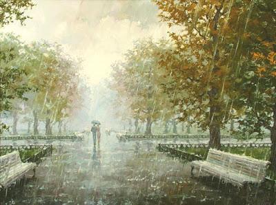 Он и Она под дождём