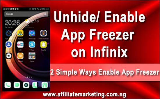 Infinix App Freezer