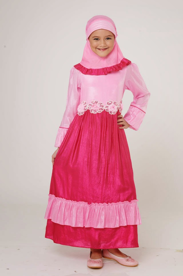 muslim kids pink