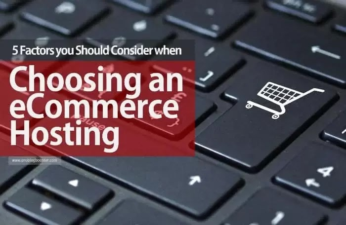 Choosing an eCommerce Hosting