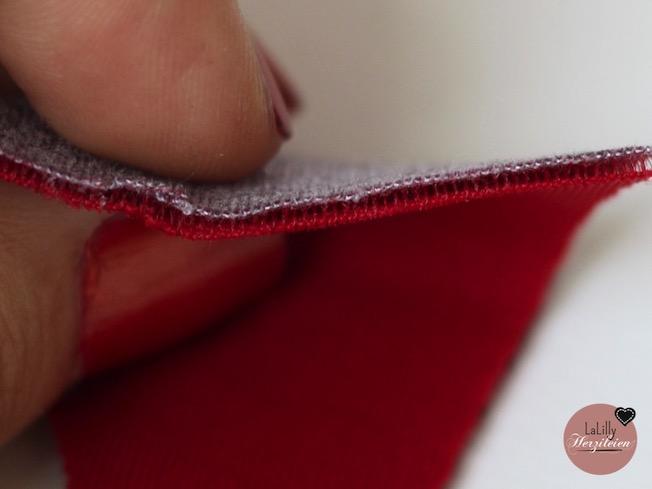 """Scuba wird oft als """"Fashion-Neopren"""" bezeichnet. Im Querschnitt sieht man die Unterschiede: Querschnitt eines Scuba-Stoffs"""