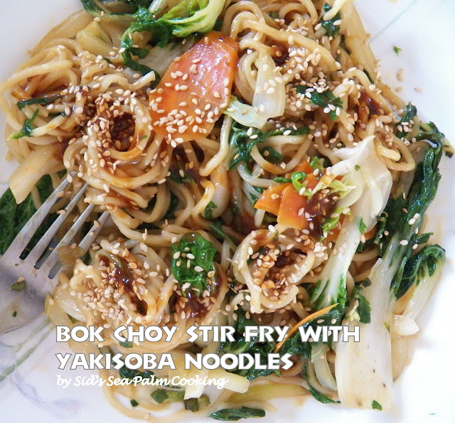 Bok Choy Stir Fry with Yakisoba Noodles and Peanut Sauce