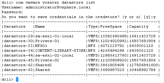 Just one more esxi-guy: The D C L I  (Datacenter CLI)