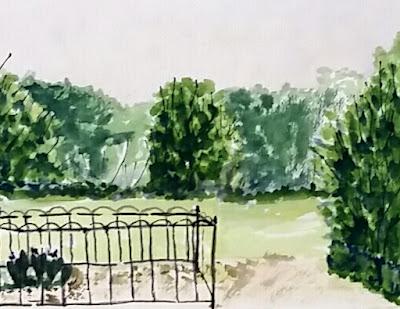 Berry Springs Plein Air Watercolor - JKeese