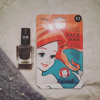 Primark Disney face mask nail polish