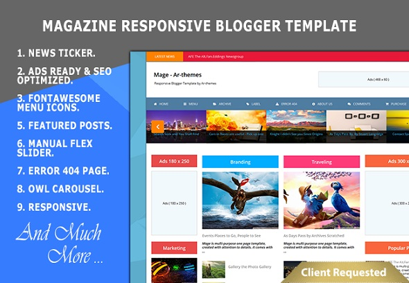 Magazine Responsive Blogger Template Preview