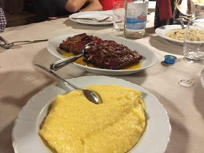 Polenta and meat dish at Maso Runch.