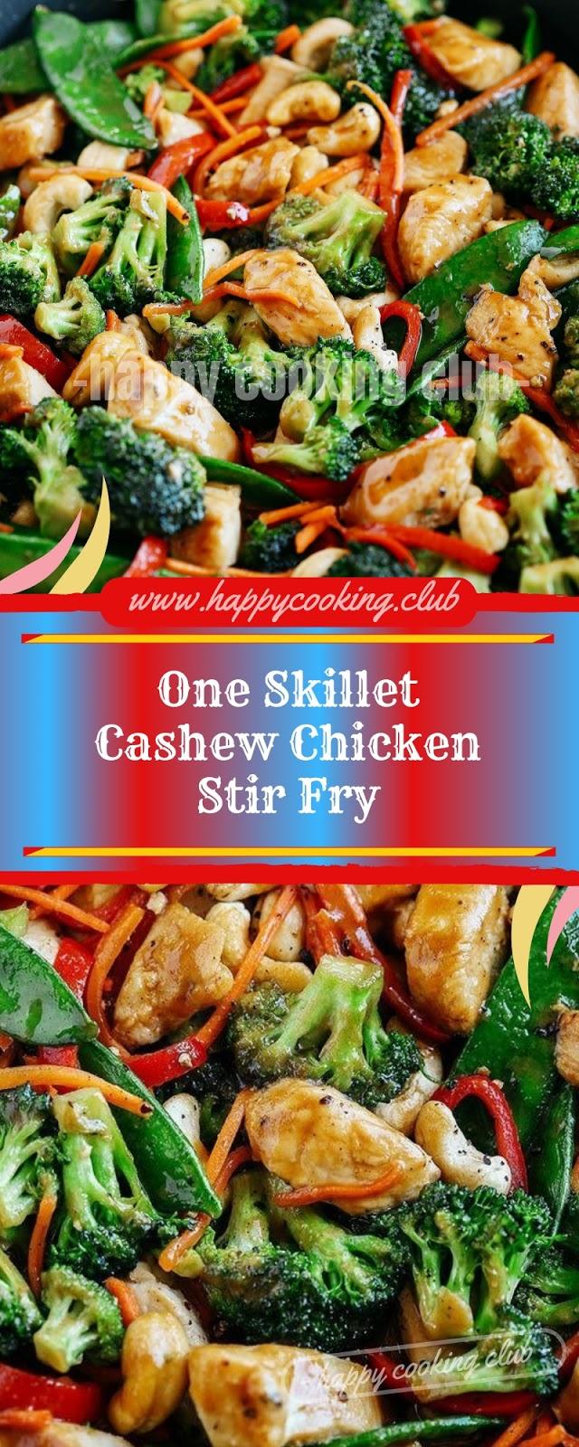 One Skillet Cashew Chicken Stir Fry