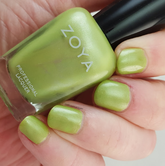 green-shimmer-nail-polish