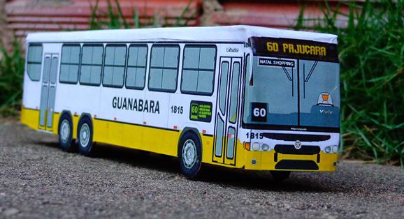 Miniaturas do truck da Transportes Guanabara para o terminal do Gramoré