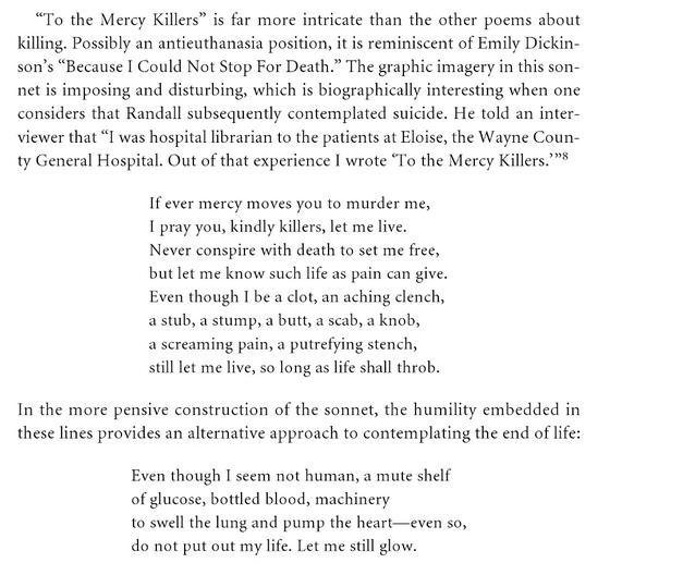 to the mercy killers poem