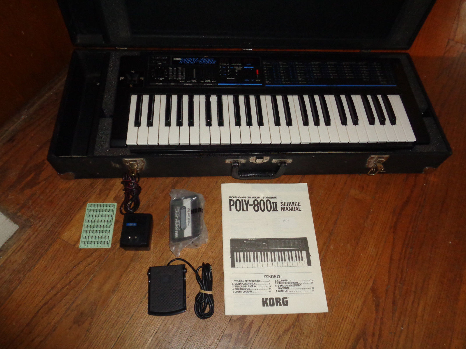 Matrixsynth 1986 Korg Poly 800ii Polyphonic Synthesizer W Case Keyboard Sustain Pedal Wiring Diagram Manual All The Goodies