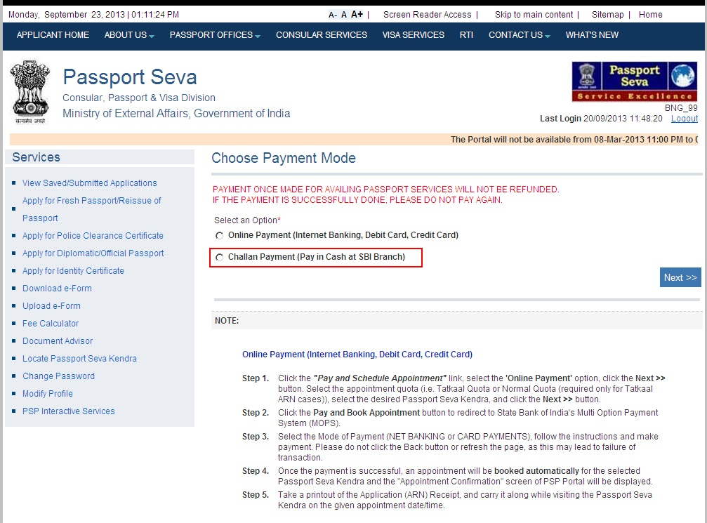 How to Book Online Passport Appointment   Full Process 2020 - Apna CSC Help