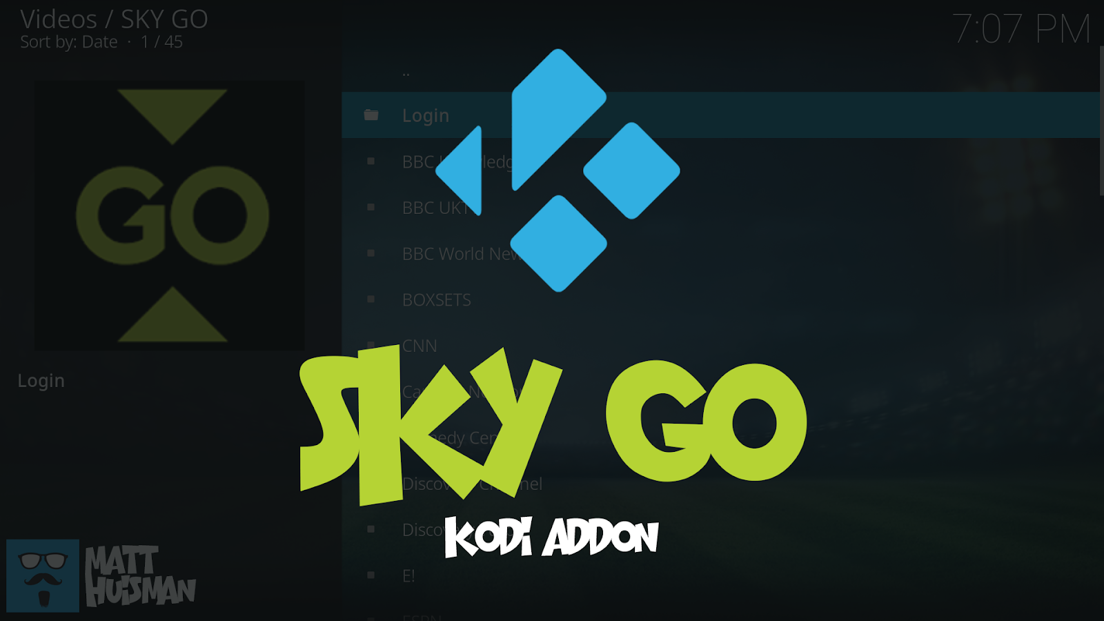 Sky Go Kodi Add-on