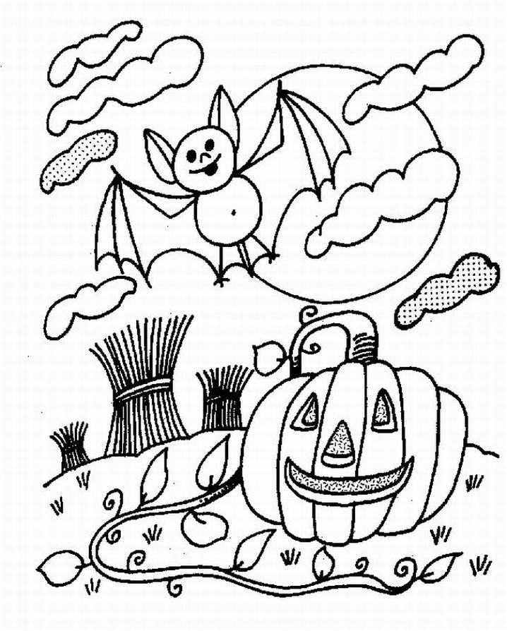 halloween scenery coloring pages - photo #37