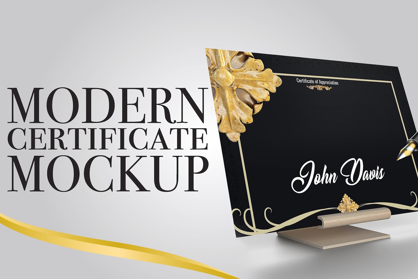 Modern Certificate Mockup