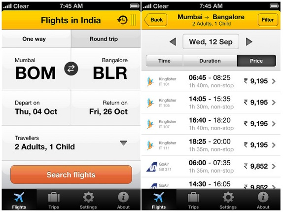 Cleartrip Launched It's App for iPhone, iPad and iPod | Features