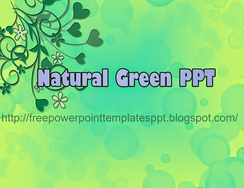 Natural Green Leaves Background For PowerPoint Presentation
