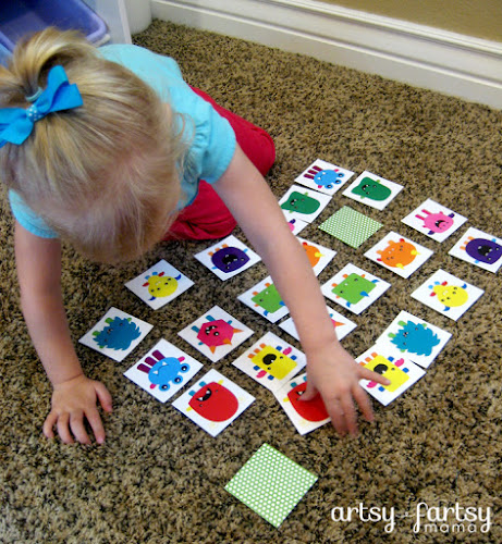 photo relating to Printable Match Games referred to as Cost-free Printable Monster Recreation Match artsy-fartsy mama