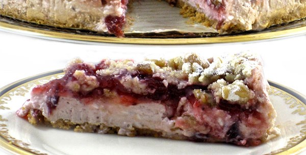 10sp - A Spectacular, Skinny Cranberry Cheesecake | weight watchers recipes