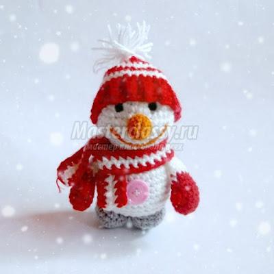 снеговик амигуруми схема