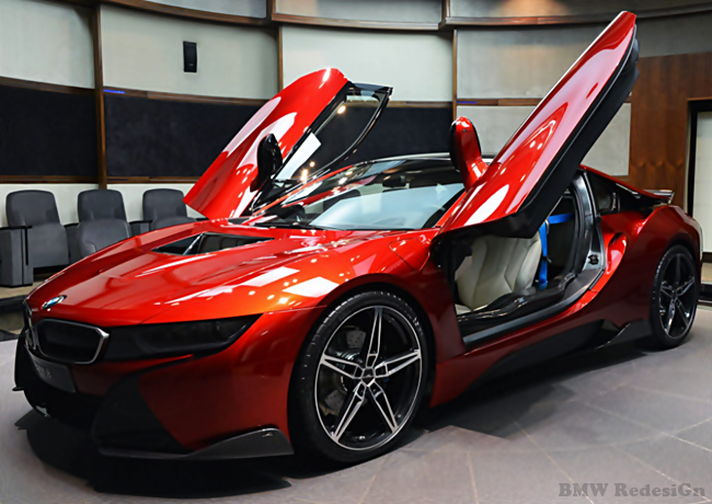 http://www.bmwredesign.com/BMW i8 in lava Red With tuning by AC Schnitzer