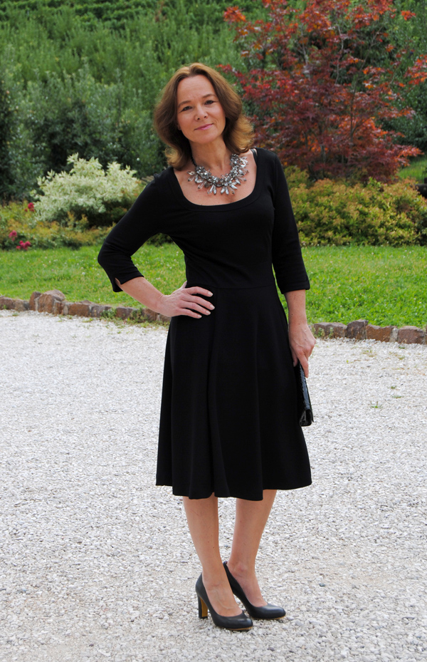 Style Interview In A Black Skater Dress  Lady Of Style-3823
