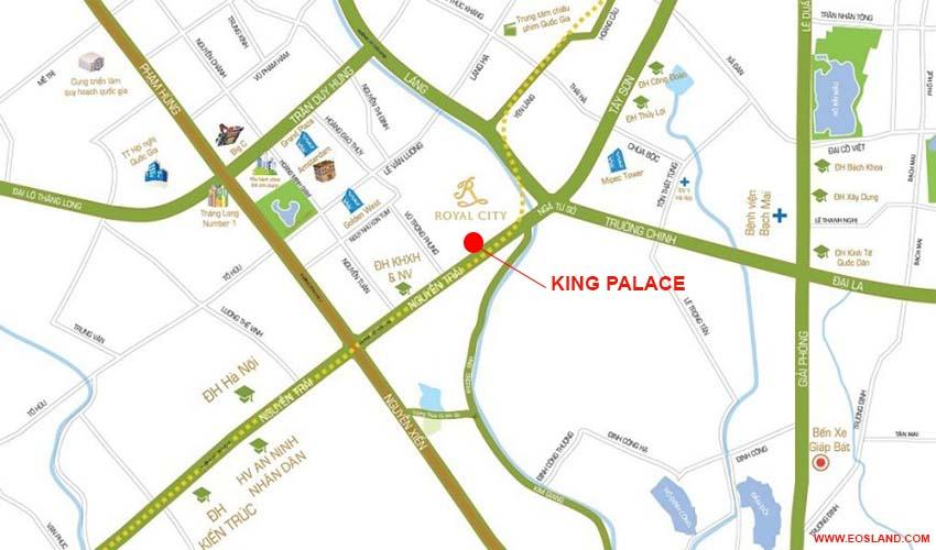 Vị trí Chung cư King Palace Nguyễn Trãi