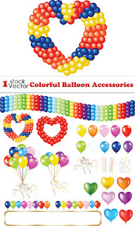 Vectores de Globos decorativos