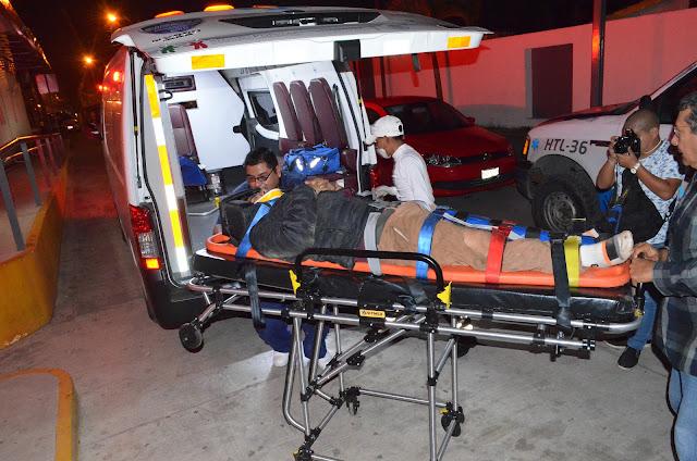 Motociclista a la sala de urgencias