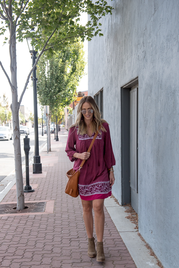 burgundy boho shift dress fall dresses