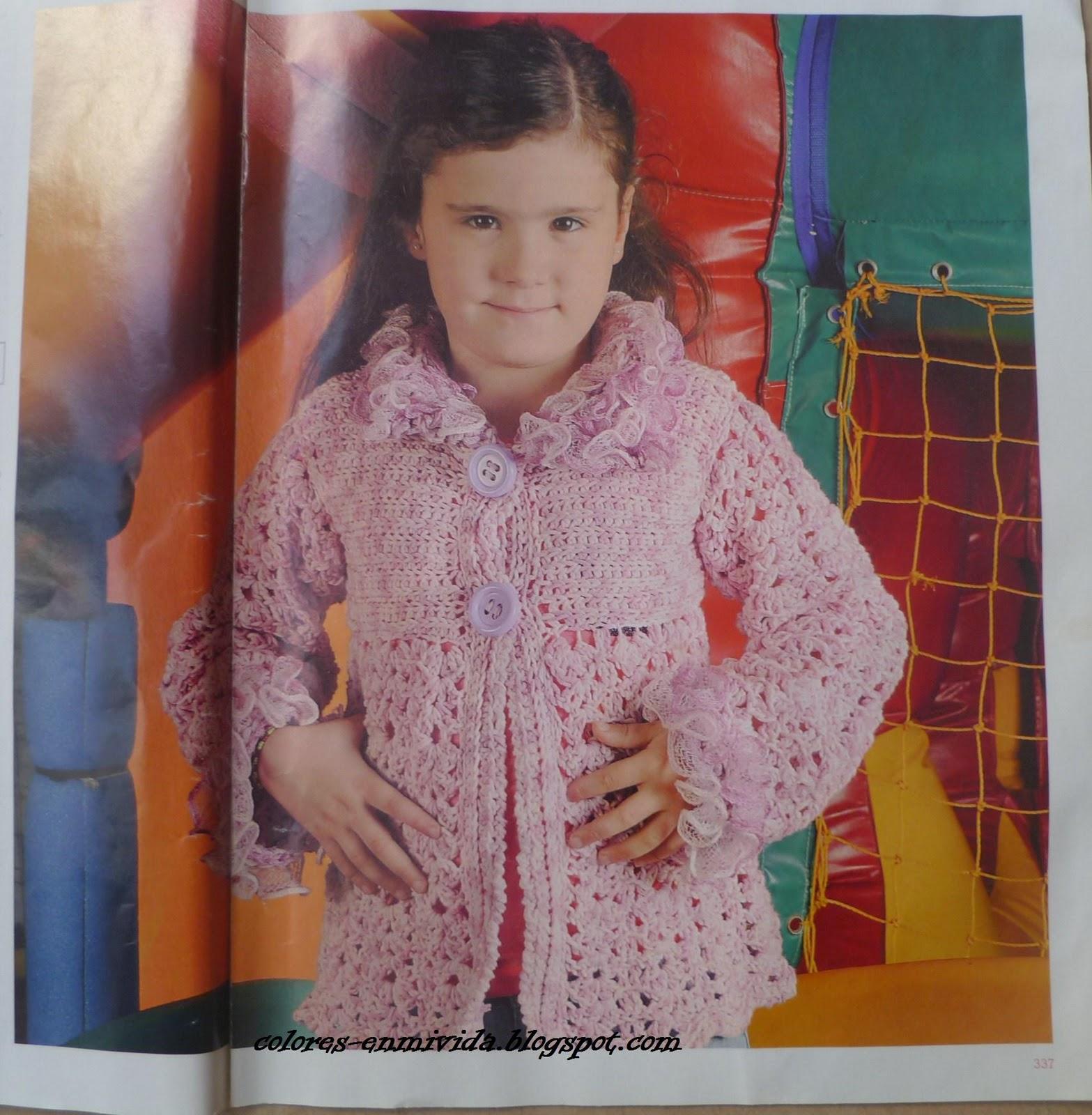 COLORES EN MI VIDA  Color de verano para un saco de niña c2e09bf3a36f