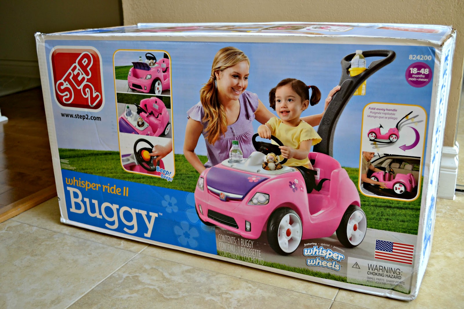 9b058a4c2d2 Step2 Whisper Ride II 2 Buggy review, Step2 Test Drive mom, Step2 Whisper  Ride