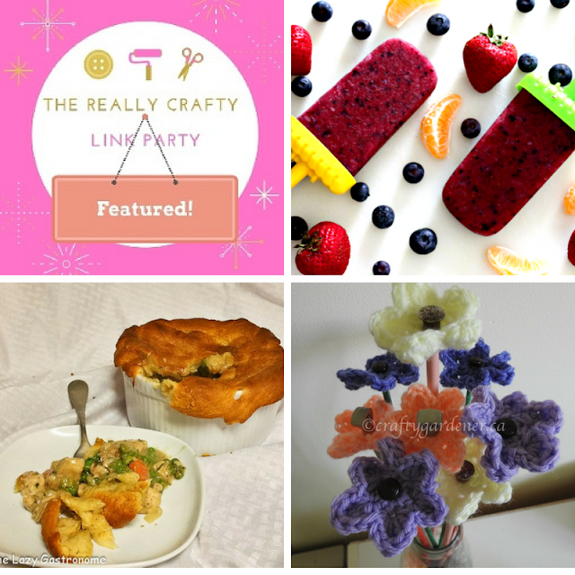 The Really Crafty Link Party #129 featured posts