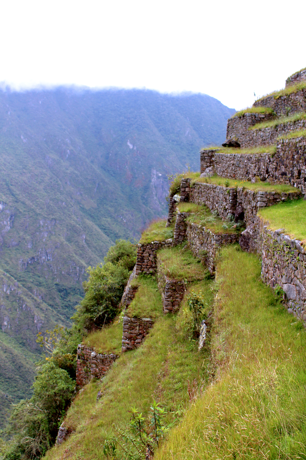 Steep steps at Machu Picchu, Peru - lifestyle & travel blog