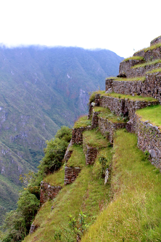 Steep steps at Machu Picchu, Peru - lifestyle & travel blog