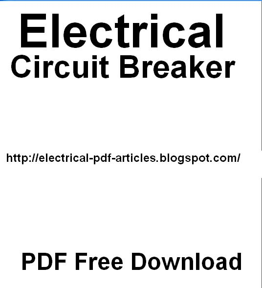 Electrical-Articles-PDF : Electrical Circuit Breaker. Free