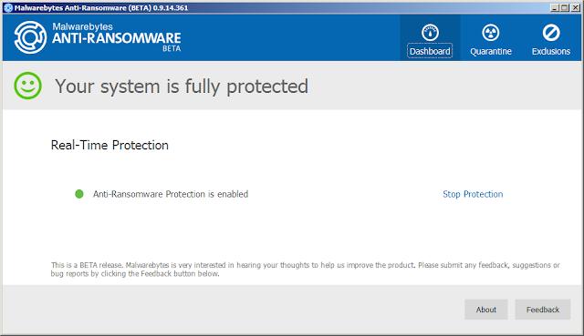 مراجعة لأداة الحماية الجديدة Malwarebytes Anti Ransomware من شركة Malwarebytes