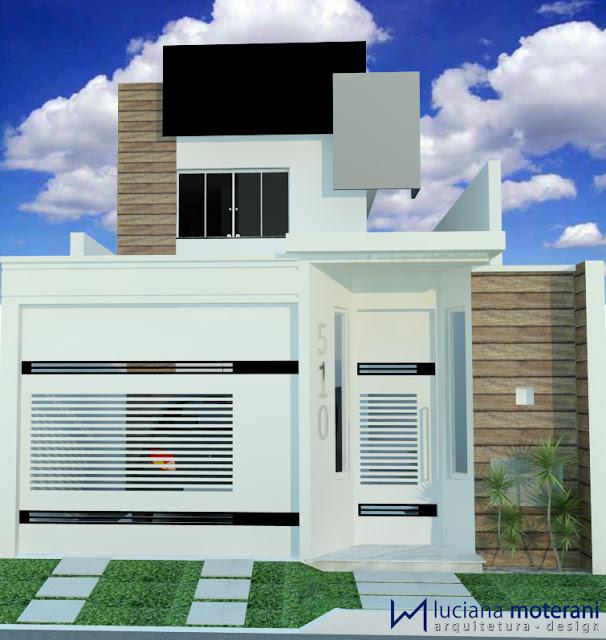 Suficiente Construindo Minha Casa Clean: Projeto da Minha Fachada com Muros e  FF77
