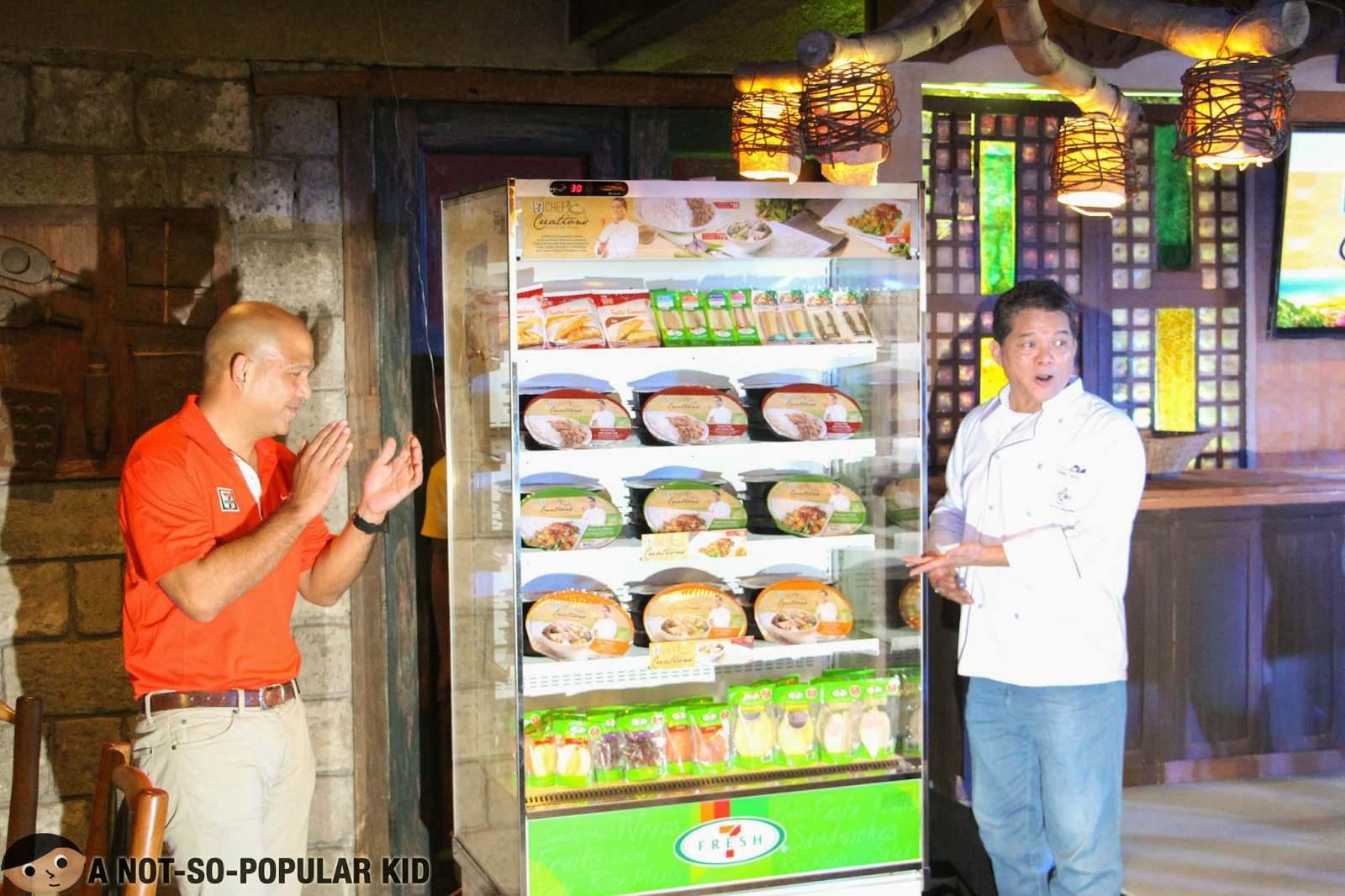 Chef Claude Tayag and Jose Victor Paterno reveal the 7-11's Chef Creations