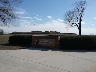 Landward view of the Star Fort, Ft. McHenry, Baltimore PA.