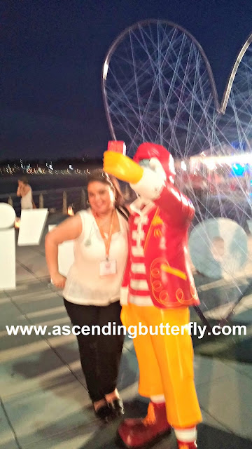 Ascending Butterfly and Ronald McDonald Selfie 01 during #McDBlogHer #BlogHer15  McDonalds Closing Party at BlogHer 2015